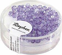 Rayher 14202308 Glas Schliffperle, 3mm ø,
