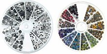 Rayher 15130801 Hotfix Strasssteine aus Glas, 2 -