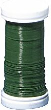 Rayher 2425113 Blumendraht, dunkelgrün, 0,35 mm