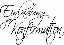 RAYHER 28376000, H.- Stempel Einladung zur Konfirmation, 5 x 7 cm, Artikel 11181