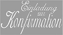 Rayher 2853700 Stempel, Einladung zur Konfirmation, 4x7 cm
