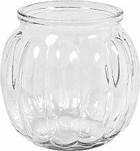 Rayher 46043000 Glas Vase, bauchig mit Rillen,