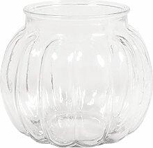Rayher 46044000 Glas Vase, bauchig mit Rillen,