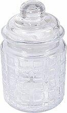 Rayher 46051000 Glas Gefäß mit Glasdeckel