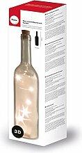 Rayher 46523800 Glas-Leuchtflasche mit 5-er LED,