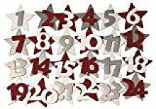 Rayher 5603800 Holz-Adventskalender-Zahlen, 4,5
