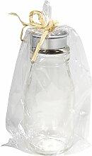 Rayher 56332000 Glas Flasche mit Teelichthalter,
