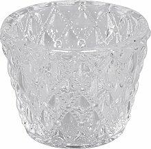 Rayher 56758000 Glas Gefäß für Teelicht,