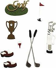 Rayher 58428000 Deko-Sticker: Golf, m. Klebepunkt,