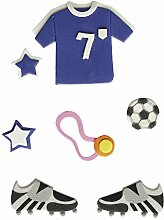 Rayher 58432000 Deko-Sticker: Fußball, m.