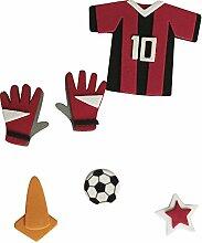 Rayher 58433000 Deko-Sticker: Fußball Torwart, m.