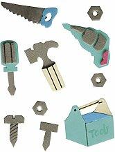 Rayher - 58435000 - Deko-Sticker: Werkzeug, m.