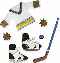 Rayher 58440000 Deko-Sticker: Eishockey, m.
