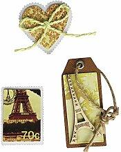 Rayher 58446000 Deko-Sticker: Paris Tags, m.
