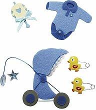 Rayher - 58452000 - Deko-Sticker: Baby Junge, m.