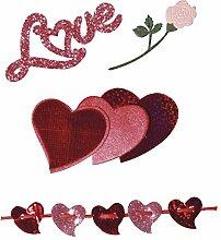 Rayher 58889000 Deko-Sticker: Liebe, m.
