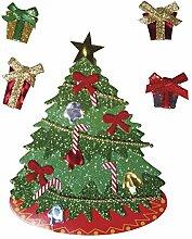 Rayher 58891000 Deko-Sticker: Weihnachtsbaum, m.