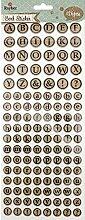 Rayher - 59226000 - Korksticker Alphabet, rund,
