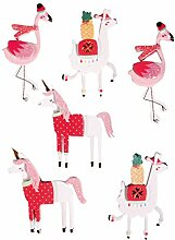 Rayher 60975000 3D Papier Sticker Lama and