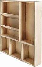 RAYHER 62697000 Setzkasten, FSC Mix Credit, 7 Fächer, Holz, mehrfarbig, 30 x 38 x 5,2 cm