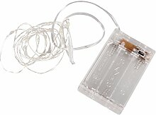 Rayher 69169159 Mini LED-Lichterkette m. Draht/Timer, 220cm, 20 LED's,Batteriebetrieb, lichtgelb