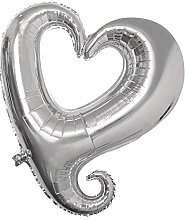 Rayher 87010606 Folienballon Herz, Silhouette,