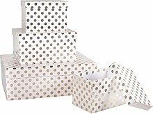Rayher Geschenk-Boxen Set, Diverse, Weiß, 3.2 x