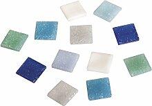 RAYHER Glas Mosaiksteine 1x1cm, Eimer 1kg (ca.