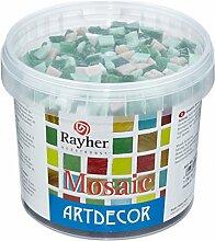 RAYHER Glas Mosaiksteine 1x1cm, Eimer 1kg, (ca.
