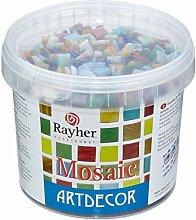 Rayher Glas Mosaiksteine, Bunt gemischt, Eimer 1kg