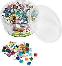 Rayher Hobby 14794999 Soft Glas-Mosaiksteine,
