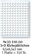Rayher Hobby 3391000 3D-Klebeplättchen, 6,5 x 6,5