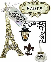 Rayher Hobby 58442000 Deko-Sticker Paris mit