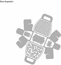 Rayher Hobby 59989000 Stanzschablone: Handbag Gift Box, Metall, grau, 2.55 x 2.15 x 0.1 cm