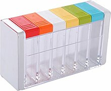 RayMoon Set of 6 Transparent Kunststoff