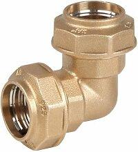 RC Junter 47020Winkelstück 90° Messing 20mm, 6x 6x 3,5cm, gold