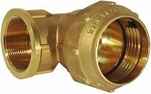 RC Junter 49040Winkelstück, Messing, 40mm, 10x 9x 6cm, gold
