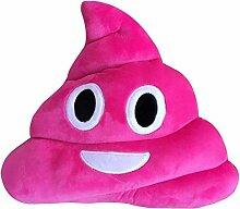 Rcool Witziges Emoji-Kissen, Form: Kackhaufen mit