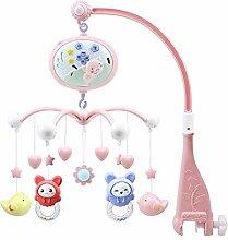 rcraftn Baby Mobile Krippe Handspielzeug mit Musik