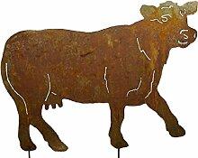 RDI Kuh Gartenstecker Edelrost, Rostiges Metall,