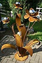 RDI XXL Blume 120cm Metall Gartendekoration