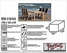 RDS310165 Schutzhülle für Gartenmöbelset oder Garten Sitzgruppe, 1 Tisch mit 8 - 10 Gartensesseln mit hohe Rückenlehne. Abdeckung Gartenmöbel, Schutzhülle Gartenmöbel und Abdeckplane für Sitzgarnituren, Abdeckung Gartengarnitur