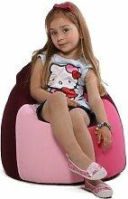 re-bax mini S / Kinder-Sitzsack mit Indoorstoff-Bezug / Größe: ca. 60 cm / Durchmesser: ca. 50 cm / Füllvolumen: ca. 80 l