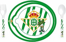 Real Betis 89234 Set Mikrowelle mit Löffel und