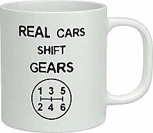 Real Cars Shift Gears White 11oz Becher Tasse