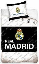 Real Madrid Bettwäsche, Baumwolle, Schwarz/Weiß,