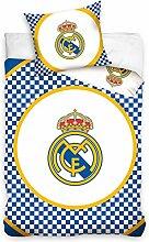 Real Madrid CF kariert Single Baumwolle Bettbezug