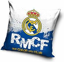 Real Madrid Kissen, Mikrofaser, Weiß, 40x 40x