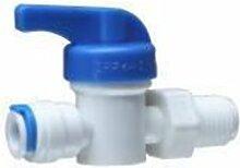 Realgoal 1/4 Zoll Aussengewinde X 1/4 Zoll Schlauch Hand Kugelhahn Quick Connect Push Rohrverschraubung RO Umkehrosmose Pure-Wasserfiltersystem(Packung mit 2)