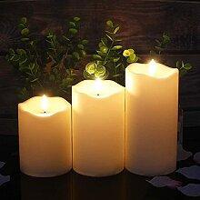 Realistische und helle flackernde Kerzen,